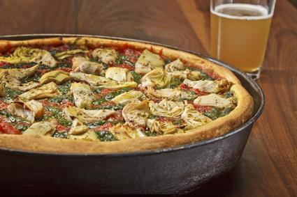 Stuffed Pizza with Artichoke and Pesto