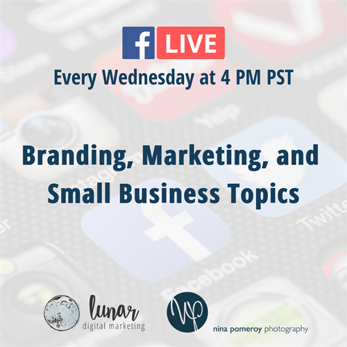 Join us as we go LIVE on Facebook discussing a new topic every Wednesday at 4pm PST!