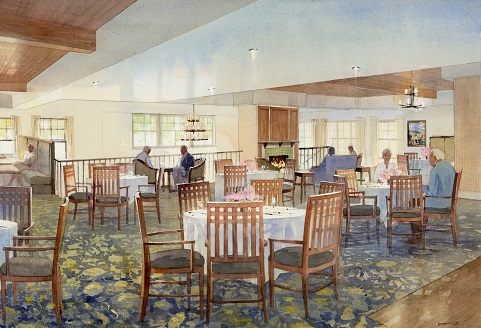 The Watermark at San Ramon Dining Room rendering
