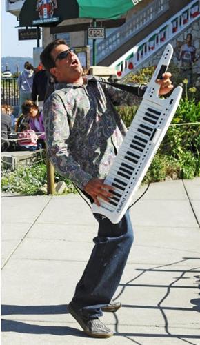 Keytarist Kevin Kooyumjian who will play live dance music with DJ Mike