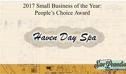 I started my business in San Leandro in 2013. In 2017, we won the Small Business of the Year, People's Choice Award issued by San Leandro Chamber of Commerce.