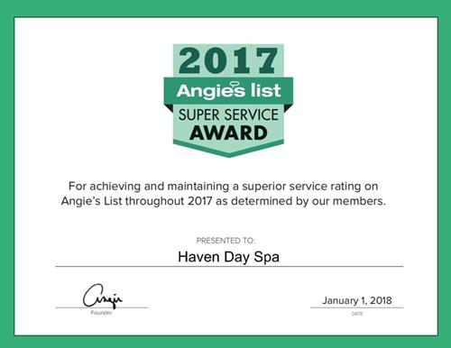 In 2017, we won Super Service Award by Angielist!