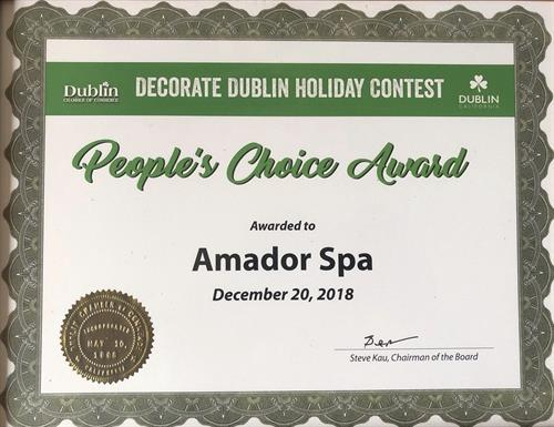 We won 2018 People's Choice Award issued by Dublin Chamber of Commerce.