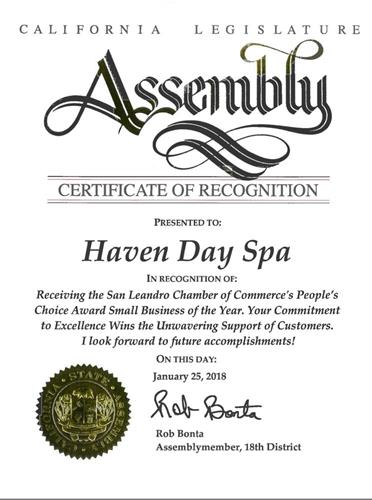Rob Bonta, Assembly-member, issued us Certificate of Recognition.