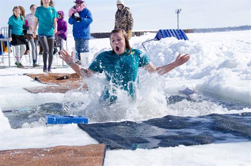 The Bayfield Winter Festival is the first weekend in March.  The Polar Plunge is a fundraiser for the Bayfield Rec Center