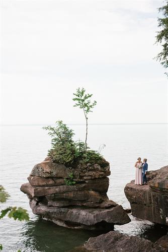 A & C's Madeline Island Intimate Ceremony