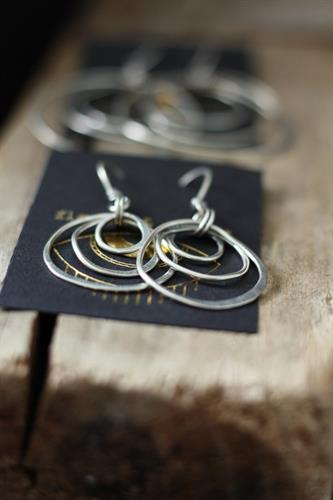 Ripple Earrings in Silver