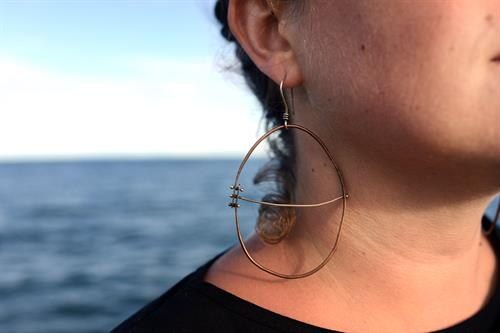 Asymmetrical Hoops. Photo by Madeline Brown.