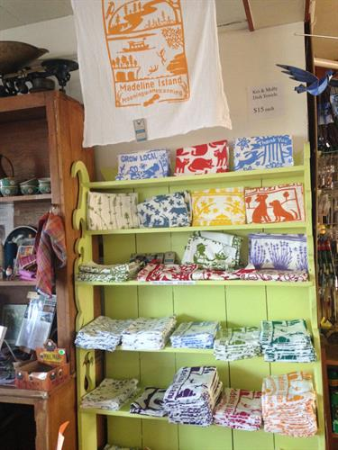 Souvenir Madeline Island Tea Towels! Very popular for gifts!