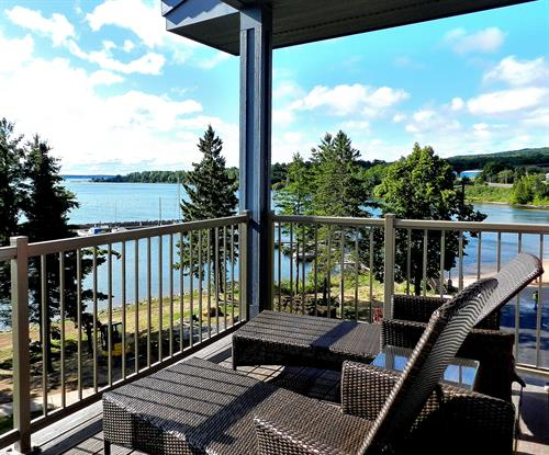 Balcony View - Every room has beautiful views of Lake Superior and the islands!
