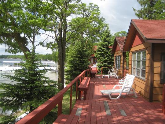Stay in our comfortable lakeside cabins!