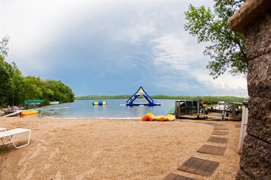 Our beautiful beach on East Silent Lake