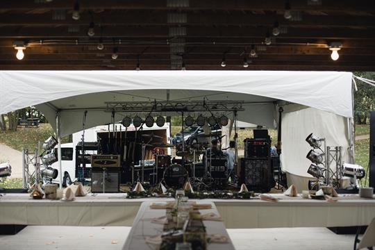 Band setup for wedding.