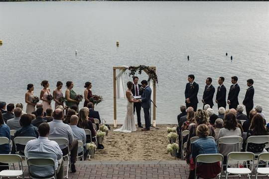 Our beach is a beautiful place to have your wedding ceremony.