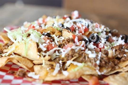 Nachos! You can choose chicken or beef.