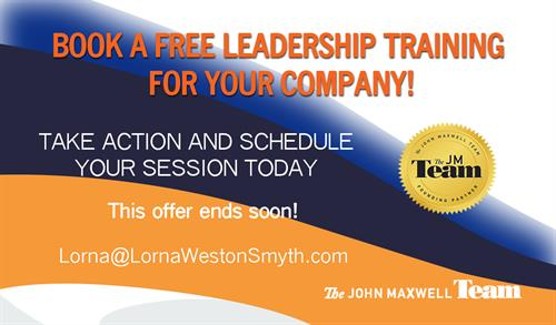 Complimentary training session for new and potential clients based on The 21 Irrefutable Laws of Leadership or other select books by John C. Maxwell, the #1 leadership expert in the world. Contact us to schedule this complimentary training to introduce your team, company, church or organization to leadership!