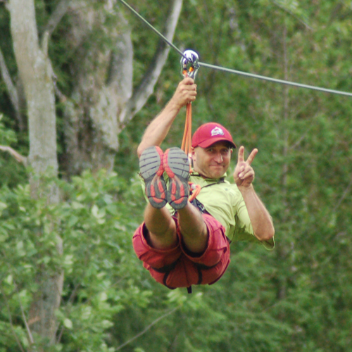 Owner Randy Richards hamming it up for the camera on the Big Zip