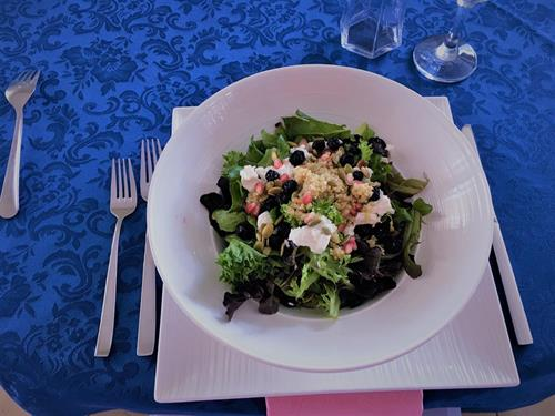 Dellagio's signature salad with fresh made ingredients- even the dressing