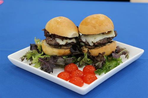 Sliders...yummy! We sometimes give them free(with a beverage purchase) on the weekends when we have the BBQ out on the patio