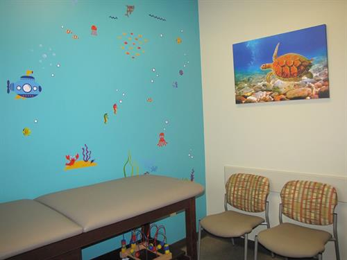 Ocean themed pediatric room