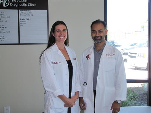 Family Practice doctors, Brenna Gerdelman, MD and Vimal George, MD