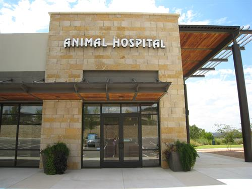 Animal Hospital at Steiner Ranch Entrance