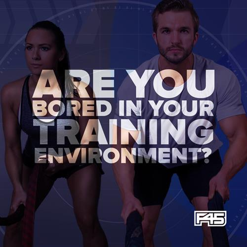 F45 Training has over 3000 different exercises and 24 different workouts! Never bored!