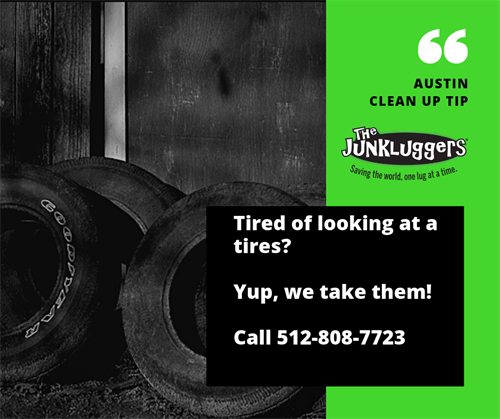 Tires need to be disposed of properly, we can remove them