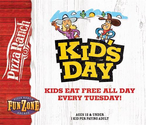 Kid's Day Every Tuesday!
