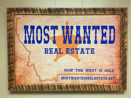 stop by our office look for our sign - Most Wanted Picture Frame