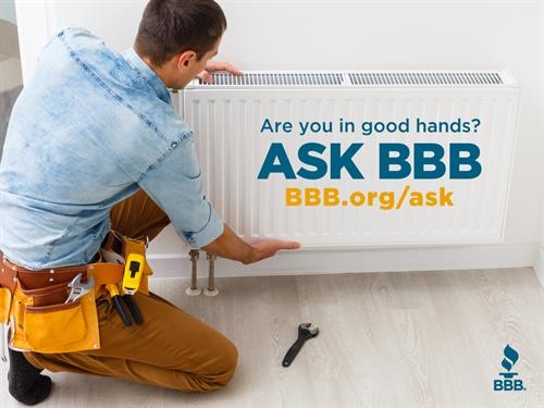 Remember to check with BBB before working with a business!