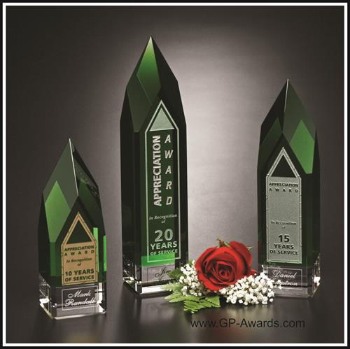 Emerald Crystal/Glass Award