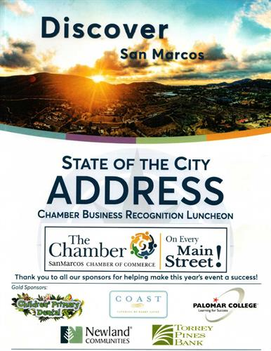 Awarded by San Marcos city Council  Best Business of San Marcos