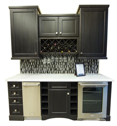 Shadow Black Wine Bar w/ Electrolux Icemaker and Beverage Center