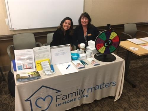 We love health fairs and educating people about senior in-home care.
