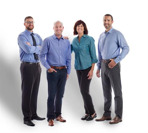 Family Matters is family owned and operated. Mom and founder Carol Pardue-Spears surrounded by her sons, L-R; Marcus, Jacob and James Laffen