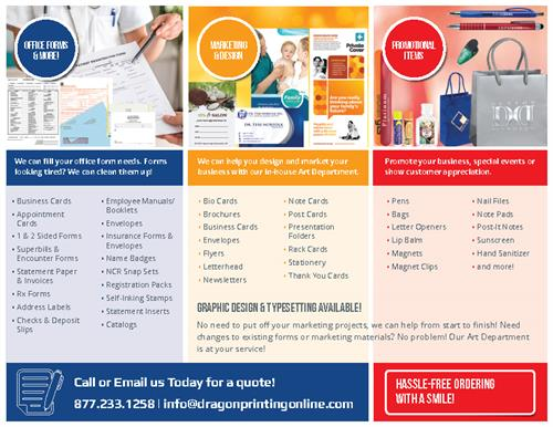 Office Forms, Graphic Design & Marketing, Promotional Items