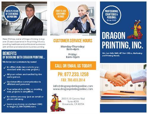 Dragon Printing, Inc. Brochure