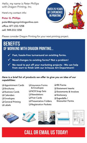 Benefits of Working with Dragon Printing, Inc.