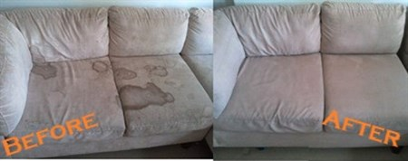 Upholstery Before and After