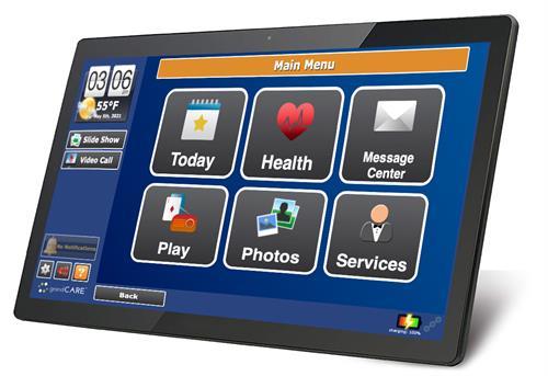 "The 17"" GrandCare touchscreen"