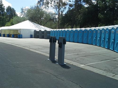 Standard porta potty rentals