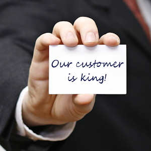 It's true, our customer is king!