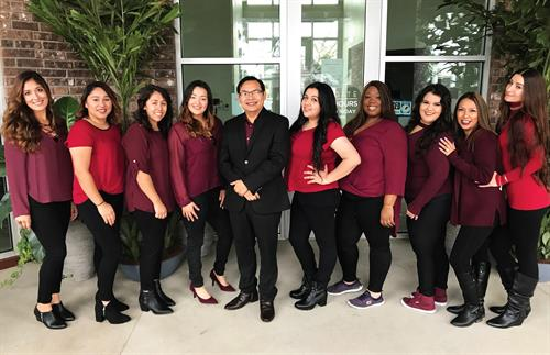 Dr. Vinh and the San Marcos Smile Dental Team