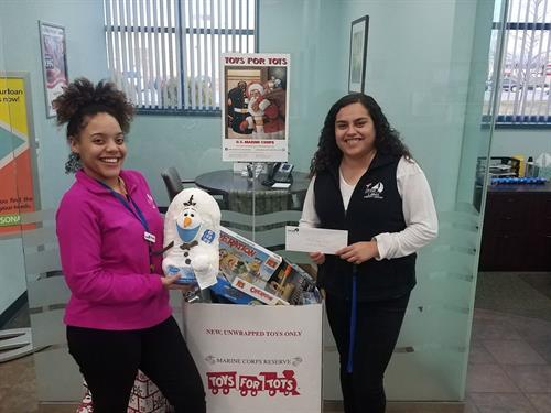 GLCU's Antioch Branch donated to Toys for Tots for our 2018 Annual Charity Giving