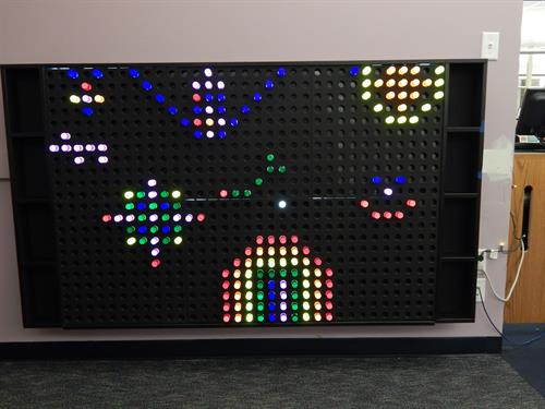 The Giant Lighted Peg Board..come and play!