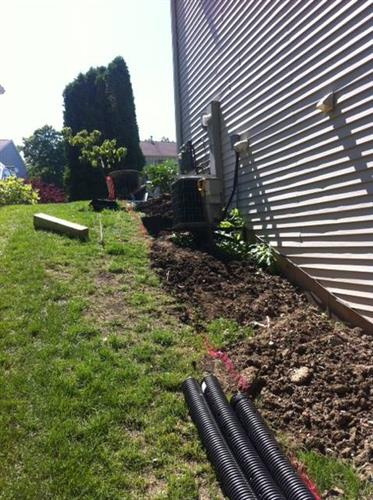 digging out for raised flower beds