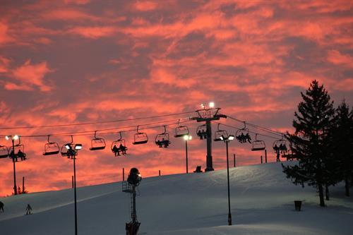 Beautiful sunset at Wilmot Mountain.