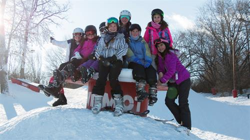 Having fun out in the new Wilmot Mountain Terrain Parks