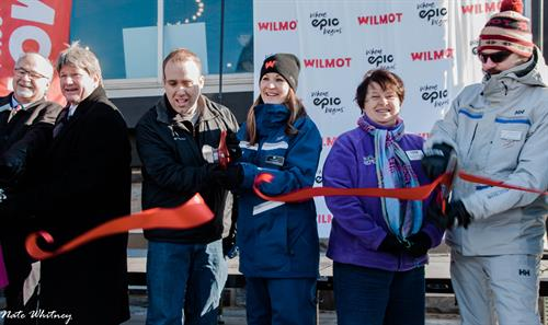 Ribbon Cutting at the Wilmot Mountain Grand Re-Opening Celebration in Jan 2017